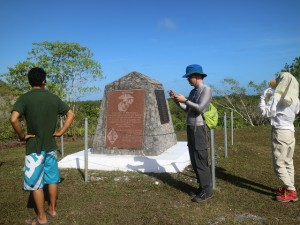 米軍の第一海兵師団の慰霊碑