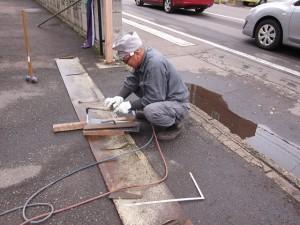 参拝者専用駐車場スロープ補修