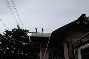 社殿 屋根修理